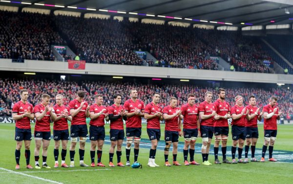 The Munster side were boosted by a huge contingent of Munster fans at Murrayfield in last weekend's Champions Cup quarter-final.