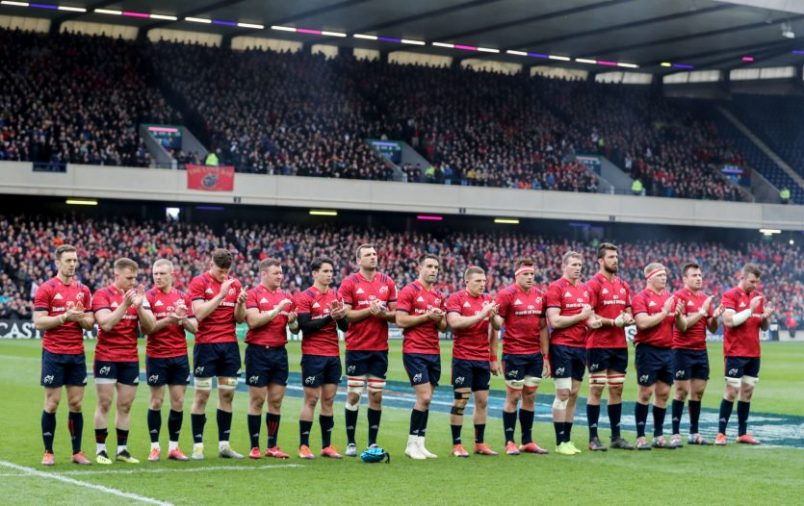 The Munster side were boosted by a huge contingent of Munster fans at Murrayfield in last weekend