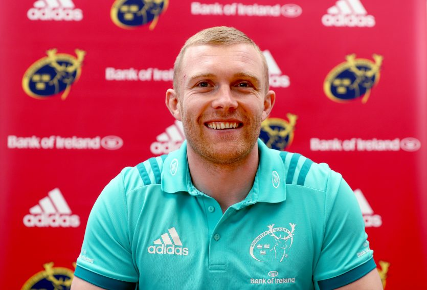 Keith Earls speaking to the media this week.