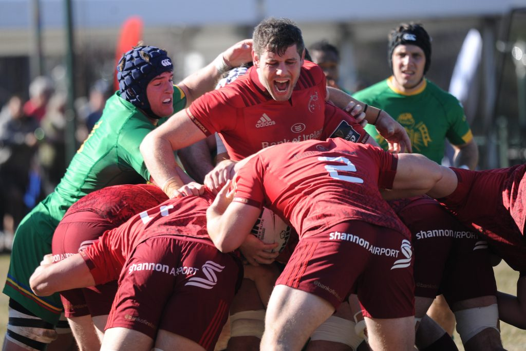 Dave O'Callaghan in the thick of it for Munster A