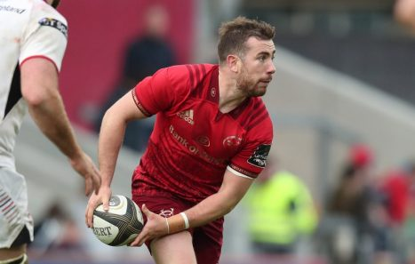 JJ Hanrahan will make his 100th appearance for Munster on Friday night.