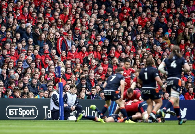 A huge Munster contingent travelled to Murrayfield to support Munster in the Champions Cup quarter-final.