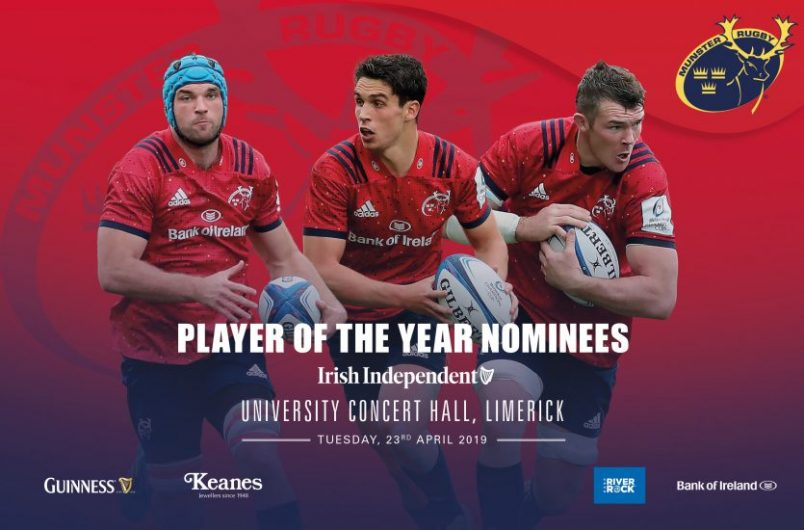 Munster Rugby Player Of The Year 2019 Nominees