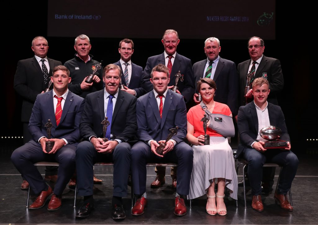 All award winners on stage after Tuesday's event.
