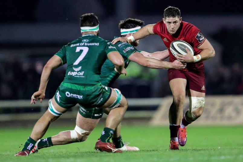 Dan Goggin in action against Connacht