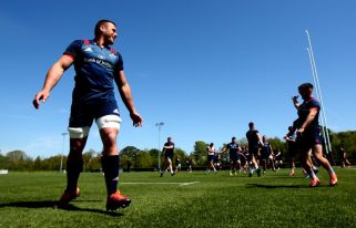 CJ Stander at training on Monday.