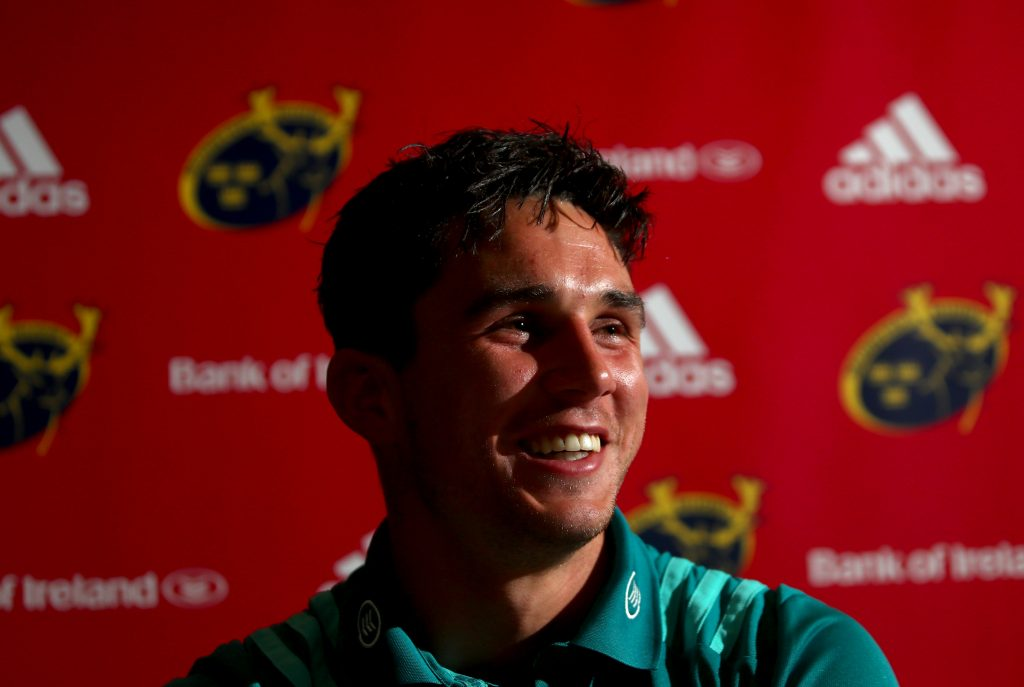Joey Carbery speaking to the media this week.