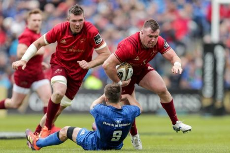 Dave Kilcoyne on the charge against Leinster.