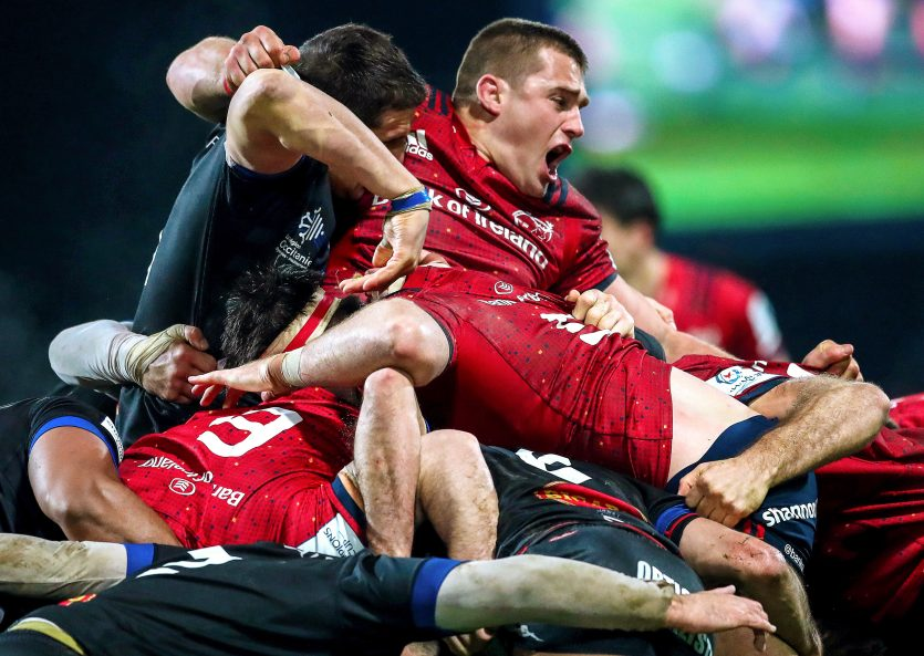 CJ Stander in action against Castres in the Champions Cup.