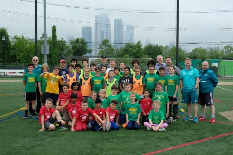 A training session with local New York youngsters was held as part of the launch of this year