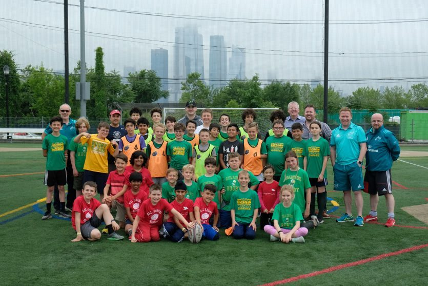 A training session with local New York youngsters was held as part of the launch of this year's New York event.