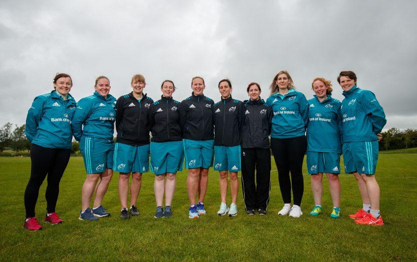 L/R: Mairead Kelly, Niamh Briggs, Maeve D'Arcy, Lorna Barry, Laura Guest, Kathyrn Fahy, Helen Brosnan, Sarah Hartigan, Fiona Hayes & Ciara Griffin.