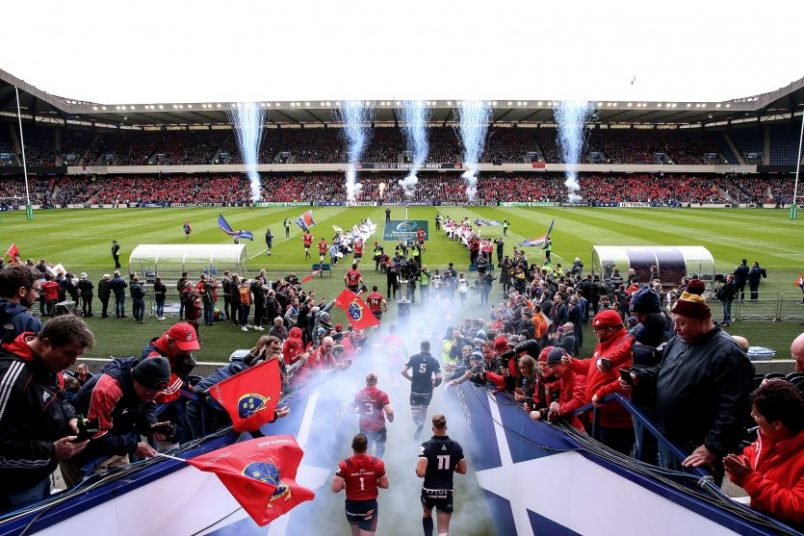 Munster defeated Edinburgh in the 2018/19 Champions Cup quarter-finals.