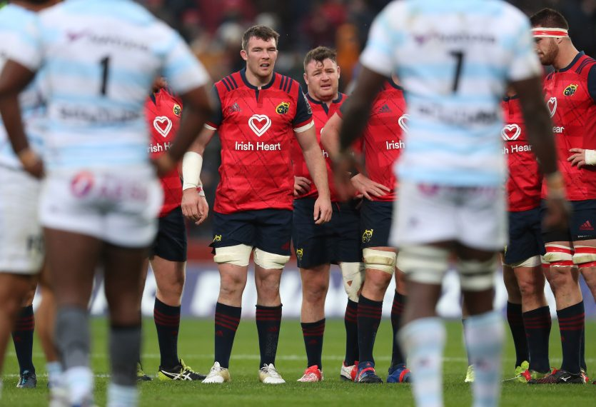 Munster will face Racing 92 in the Champions Cup Pool stages.