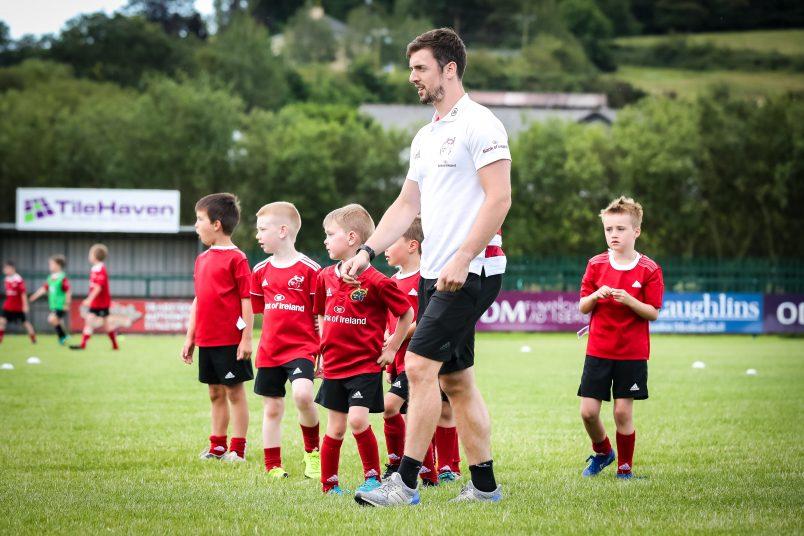 Darren Sweetnam at the Bandon RFC Bank of Ireland Summer Camp.