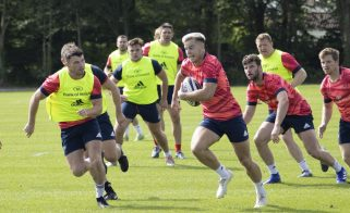 Munster Academy player Alex McHenry at pre-season training.