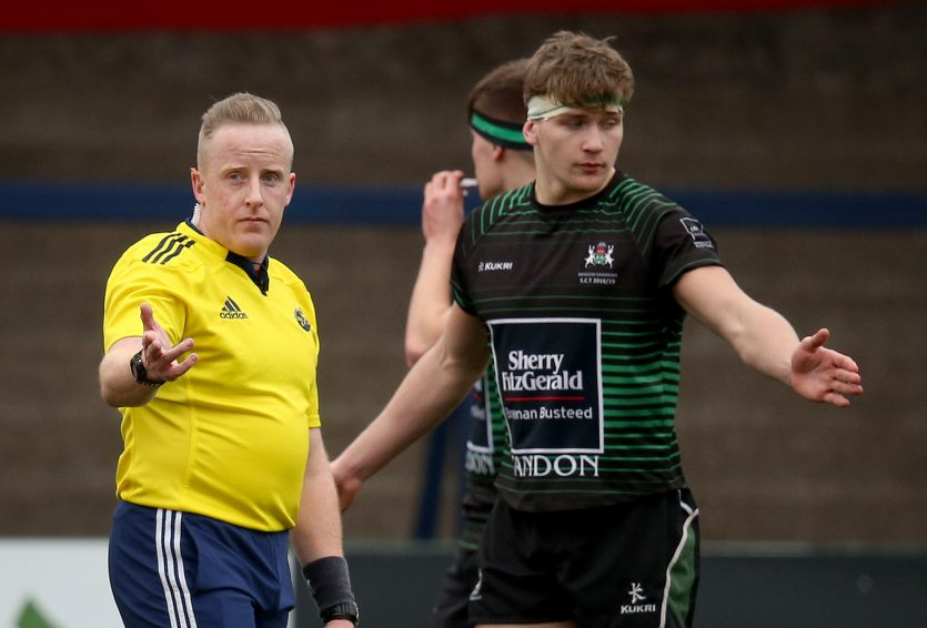Sheehan will be eligible for selection to referee in the All-Ireland League and representative fixtures in the coming season.