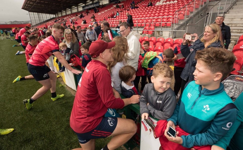 Mike Haley meets supporters at Irish Independent Park