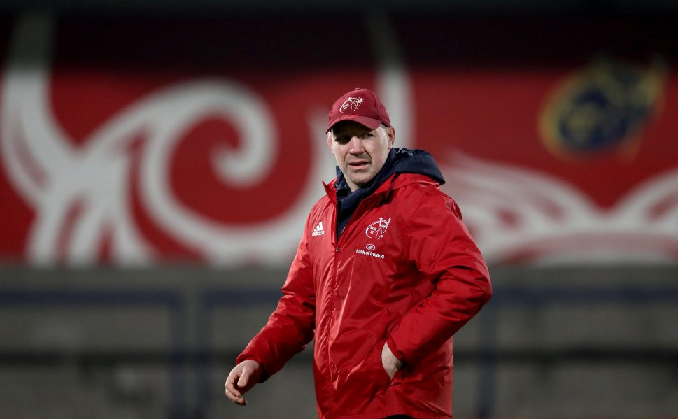 Munster A Head Coach Peter Malone
