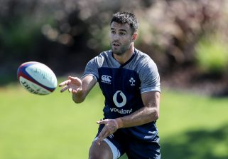 Conor Murray in action in the Ireland training camp in Portugal.