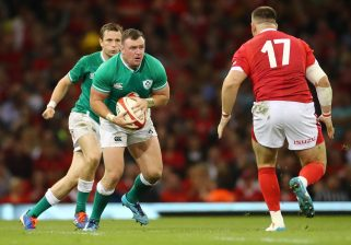Dave Kilcoyne in action against Wales on Saturday.