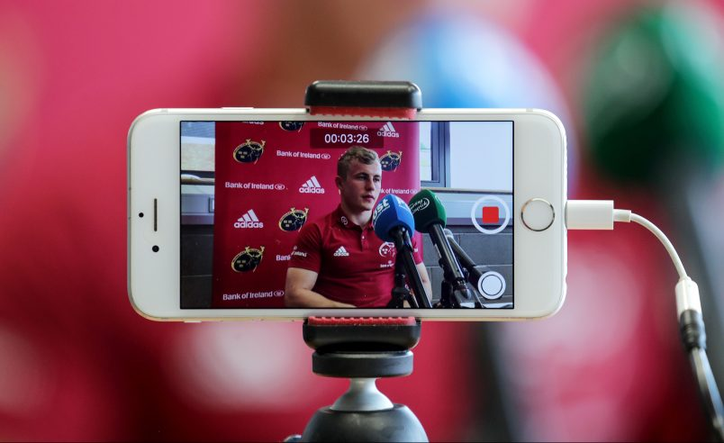 Craig Casey speaking to the media this week.