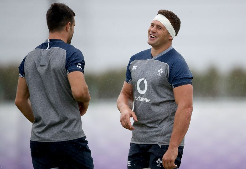 Conor Murray and CJ Stander at training in Japan this week.