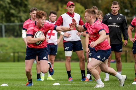 Ben Healy and Rory Scannell at training this week.