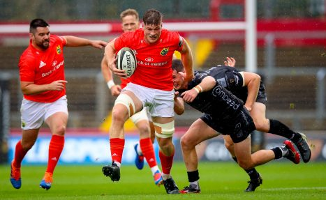Jack O'Donoghue in action against Dragons last month.
