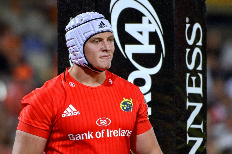 Prop Keynan Knox was one of three Academy players included in the squad for the PRO14 games in South Africa.