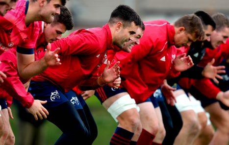 The Munster squad are put through their paces at Tuesday