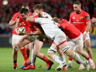 Niall Scannell on the charge against Ulster.
