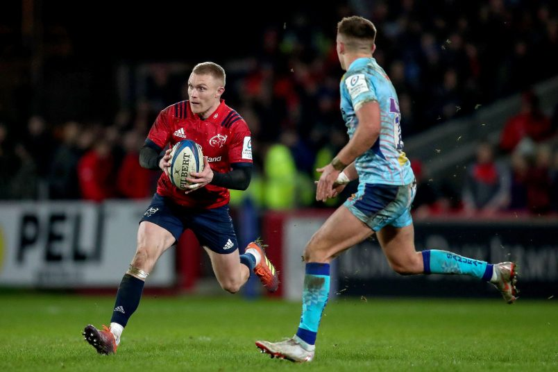 Keith Earls makes his first appearance of the season on Saturday.