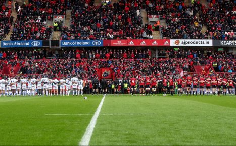 Munster and Racing 92 last met at Thomond Park two years ago.