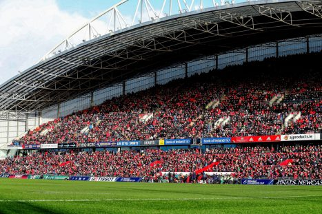 Thomond Park hosts Munster v Racing 92.