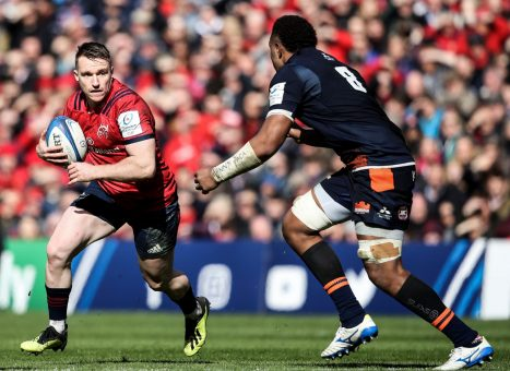 Rory Scannell with Viliame Mata in last seasons Champions Cup quarter-final.