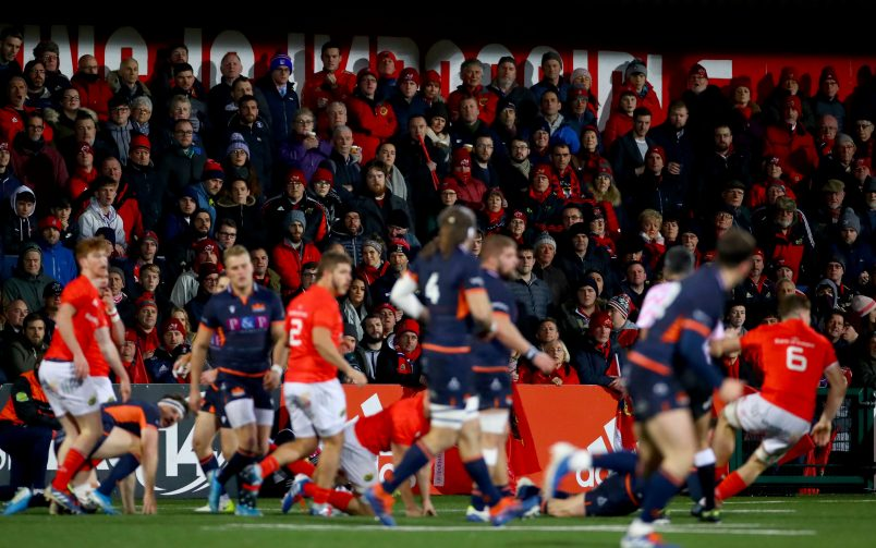 Munster fans at the game.