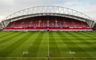 Thomond Park hosts Munster v Saracens on Saturday evening.