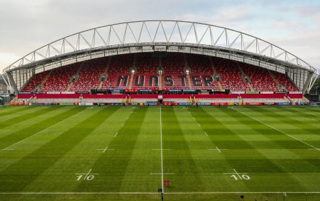 Thomond Park hosts Munster v Saracens on Saturday evening.