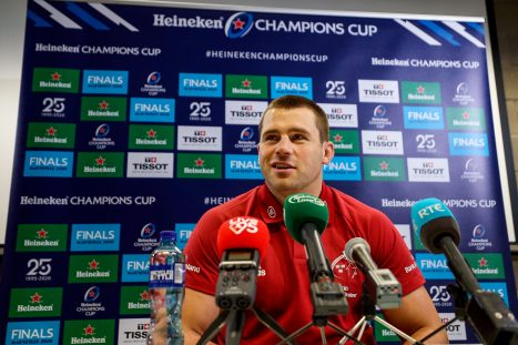 CJ Stander speaking to the media this week.