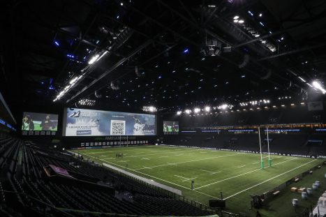 A general view of the La Defense Arena ahead of Racing 92 v Munster