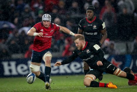 Fineen Wycherley in action against Saracens last month.