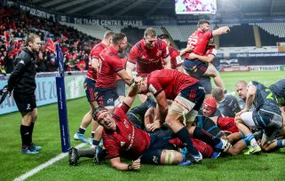 Munster players celebrate James Cronin