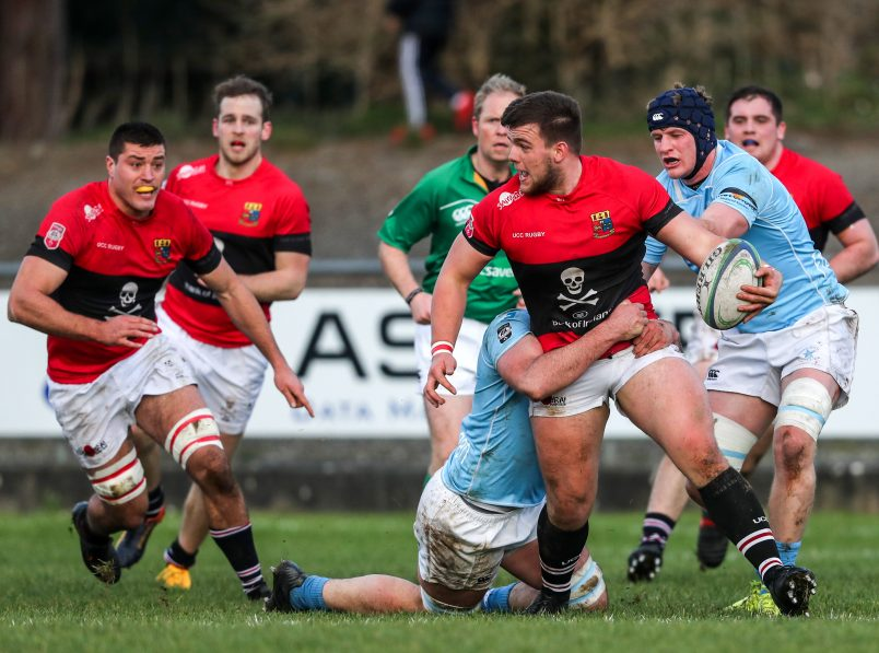 James French in AIL action for UCC last month.