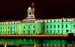 Cork City Hall is being lit up in green for the Ireland U20s.