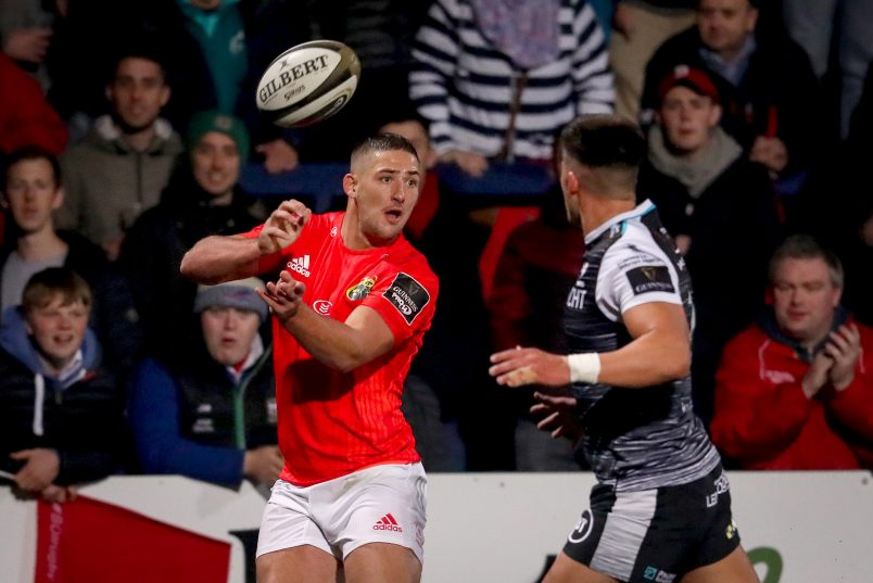 Dan Goggin in action against Ospreys at Irish Independent Park earlier this season.