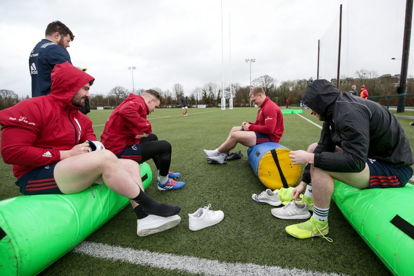 Sammy Arnold, Nick McCarthy, Keynan Knox and Calvin Nash get their boots on ahead of Tuesday