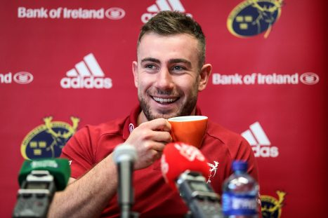 JJ Hanrahan enjoys a sneaky cuppa during Tuesday