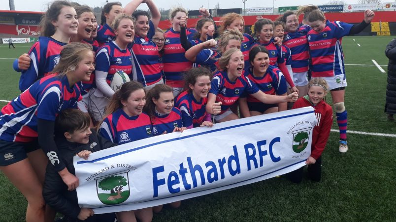 Feathrd RFC have won the U16 Girls Munster league four times in a row.