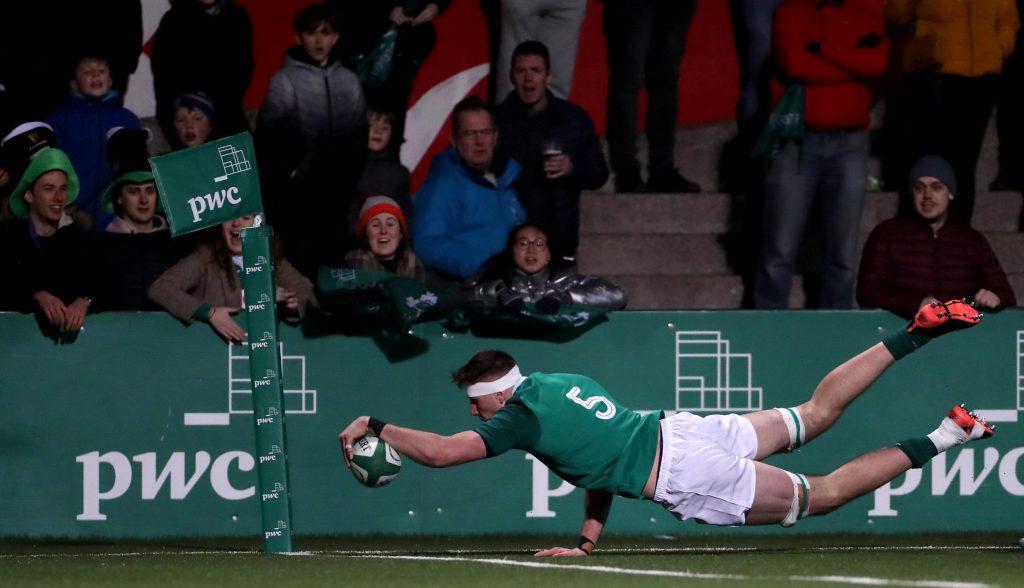 Thomas Ahern has impressed for the Ireland U20s.